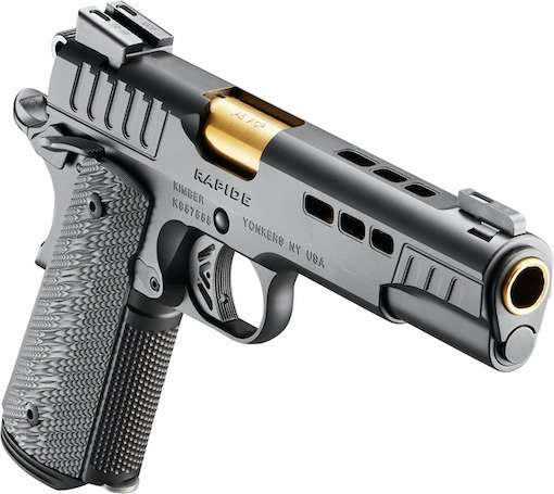 Black Rapide pistol with white background